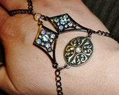 stunning crystal slave bracelet
