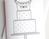 Wedding Thank You Card - THANK YOU for making our wedding cake