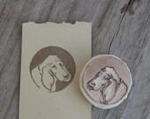 Basset Hound Rubber Stamp