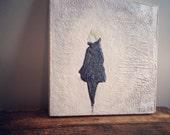 Fine art encaustic, Dancer, black & white
