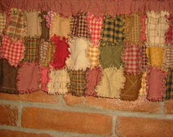 Rag Quilted Valance Epattern,  Downloadable Digital Pattern