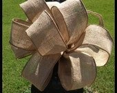 Burlap Bow, Mailbox Bow, Door Bow, Wreath Bow, Pew Bow, Wedding Bow
