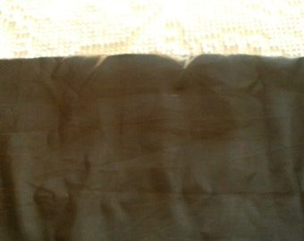 2  Yards of Vintage  Taffeta Fabric Chocolate Brown
