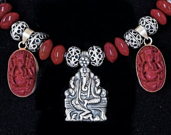 Ganesha Necklace and Earrings