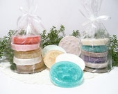 Exfoliating Loofah Soaps , Set of 5 Sample Size Loofah Soaps, Soap Set, Pedicure Soaps in your scent choices