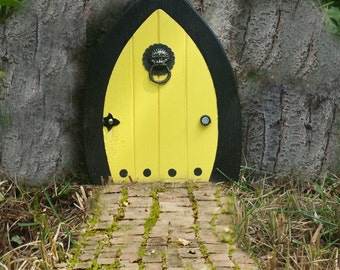 Fairy Doors, Faerie Doors, Gnome doors, Elf Doors, Hobbit Doors 5 inch yellow