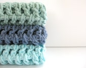 cotton crochet dishcloths/scrubbies AND you can pick the colors