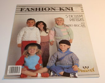 Vintage Phentex Fashion Knits Pattern Booklet