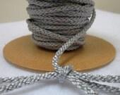 3 Metres 4mm Silver Grey Lacing Cord
