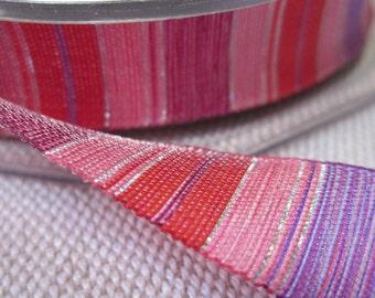 5 Metres Pink Stripe Ribbon