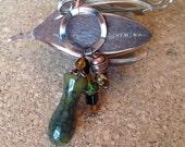Shawl Pin, Kilt Pin, Scarf Pin, Brooch - Little Green Vase