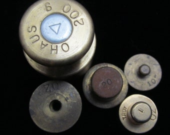 Various Vintage Weights Ohaus Troy Oz