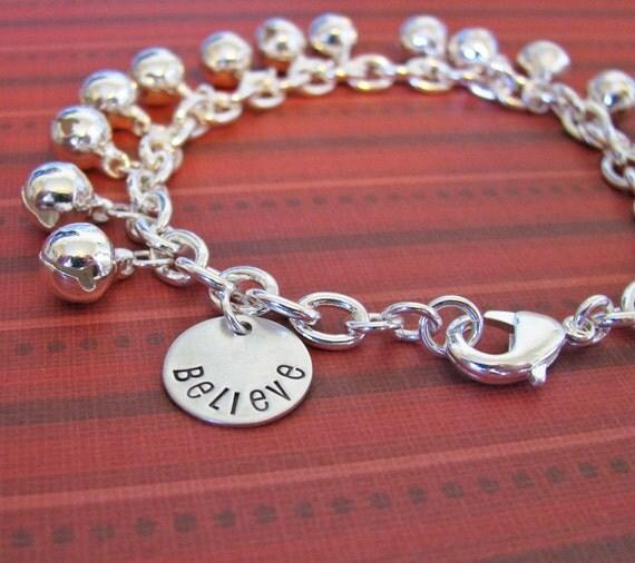 jingle bell believe charm bracelet