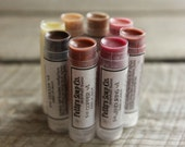 8 Pack | All Eight Colors | Natural Lip Balm | Beeswax Balm | Tinted Lip Balm | Cocoa Butter Lip Balm | Fatty's Soap Co.