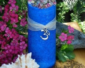OM . Peaceful Mediation Crystal Herbal Alchemy Candles . Vibrational Universal Connection