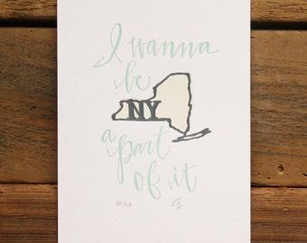 New York Letterpress State Print