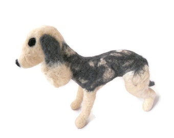 Custom Needle Felted Bedlington Terrier - soft dog plushie sculpture - medium sized