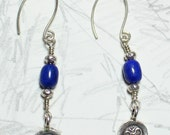 Lapis Peace  earrings