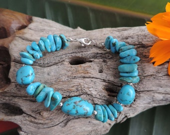 Southwestern Turquoise Bracelet with Sterling Silver