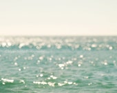 sale 25% off beach photography, abstract seascape, ocean waves bokeh, dreamy sunshine, nautical, sparkle twinkle coastal decor California Bi