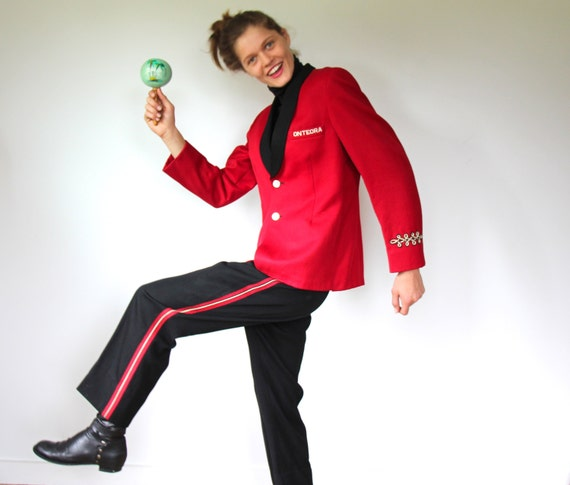 Items similar to vintage 1970s marching band uniform. Red ...