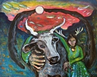 Ox Moon       11x14