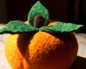 Juicy Orange - Felted Fruit Pincushion