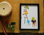 Dog Days, 5 x 7 inch framed print
