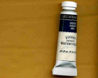 Watercolor paint  Grumbacher Finests  5 ml. tube Indigo