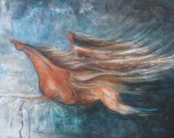 Blessing horse art print