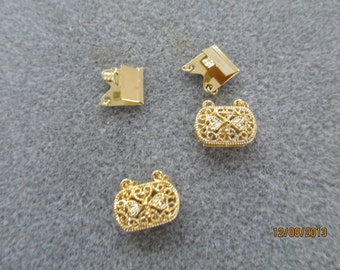 Fancy Clasps, Goldplated, 2 sets