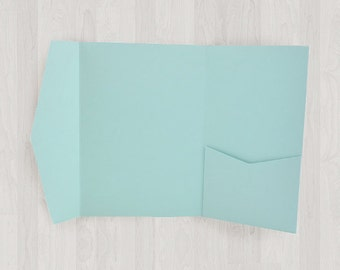 10 Vertical Pocket Enclosures - Light Blue - DIY Invitations - Invitation Enclosures for Weddings and Other Events