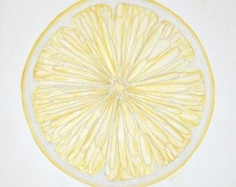 Lemon Painting Citron II String Art Painting Textured Abstract Lemon Art Yellow and White