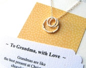 GRANDMOTHER JEWELRY - POEM Card Included Grandma Gift Sterling Silver Repres. a Grandma and Her Grandchildren Grandmother Necklace