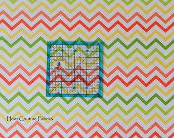 Citrus Mini Chic Chevron CX6220 from Michael Miller Fabrics -100% cotton - great for applique, quilting, apparel - 1/2 yard