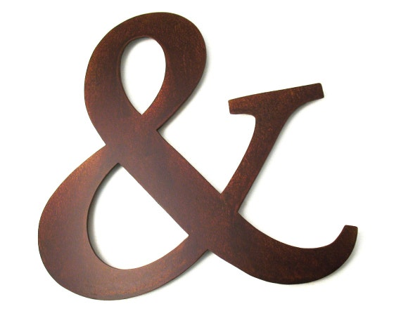 Metal ampersand sign sign ampersand decor by georgiametalart for Ampersand decor