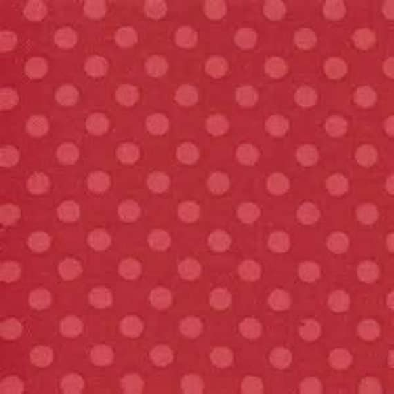 Redwork Renaissance Red on Red Polka dot by Chloe's Closet for Moda 1 yard 32624 22