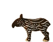 Tapir Baby - One of a Kind - needle felted animals - wildlife - Zoo
