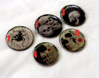 Skulls Horror Resin Photo Art Cabochons Jewelry Making Bow Center Phone Case Decoden Mixed Media Scrap Booking Card Making A2
