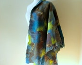 Felted Wrap Scarf Reversible  Swiss Mountain
