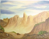 Original Oil Painting, Oil Painting Vacation Land Utah, Original Oil Painting on Canvas, Oil Painting Desert