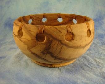 Maple Fruit Bowl With Linen Wraps