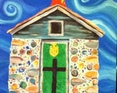 Bottle house painting