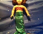 "Mermaid Tail Costume for 18"" doll such as American Girl or Our Generation"