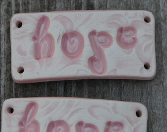 HOPE Pottery Cuff Bead in Pastel Pink