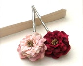 Romantic Rose Flower Bobby Pins, Valentines Day Inspiration, For Her, Valentines Day, Valentines Day Fashion, Valentines Day Hair Accessory