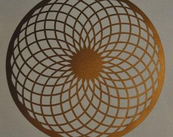 Torus sacred geometry copper vinyl decal