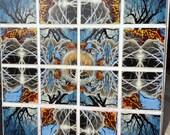 18 x 18 inch mandala tree Ceramic Photographic Art Tile backsplash by CosmicSky