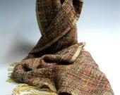 Handwoven Silk and Bamboo Scarf: The Senator's Wife