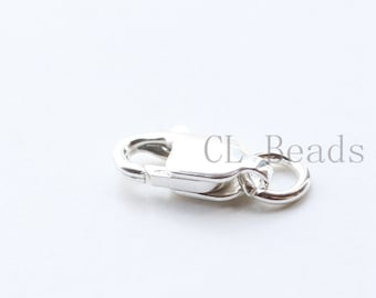 One Piece S925 Sterling Silver Lobster Claw - Lobster Clasp  - 10mm